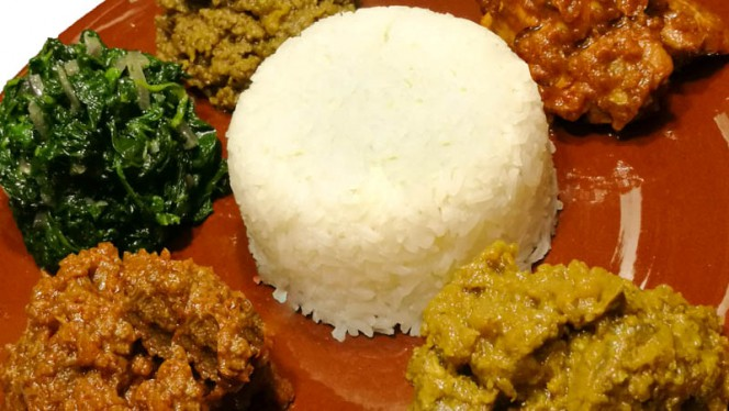Meat combination with rice - Walia Ibex, Amsterdam