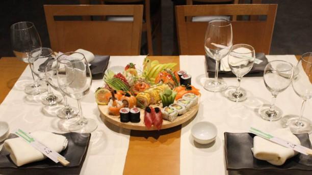 Sushimai detalhe da mesa