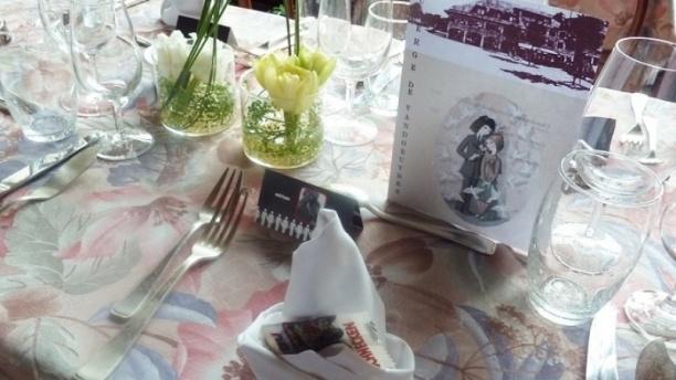 Auberge de Vandoeuvres Table dressée