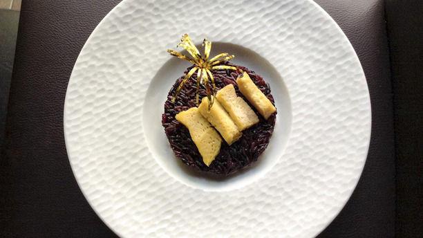 Prik Thai Riz noir et flan thaï
