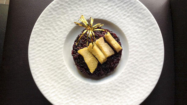 Prik Thai Maine Riz noir et flan thaï