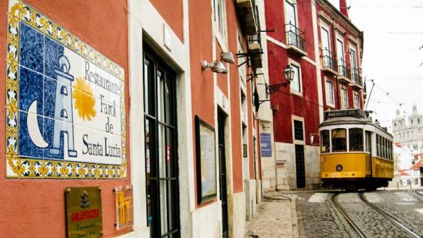 Farol de Santa Luzia Restaurante Farol de Santa Luzia outside tilling