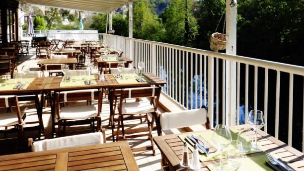 Restaurant de l'Hôtel des Grottes terrasse restaurant