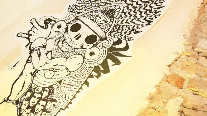 Detalle arte mexicano - Mexcla, Barcelona