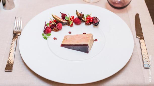Le Keller - Hôtel Champs-Elysées Plaza Terrine de foie gras de canard Maison, Gelée de vin chaud aux épices, marmelades de figues
