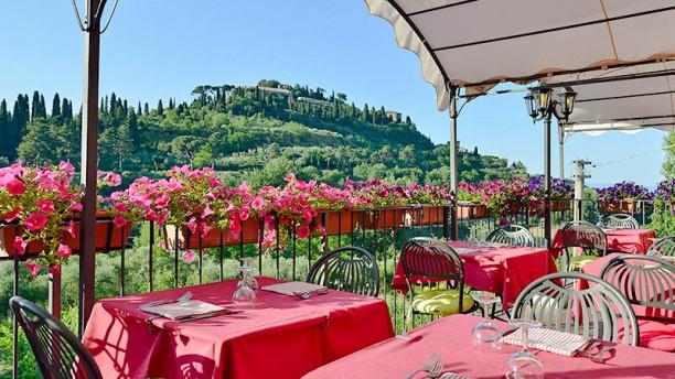 Il Covo Terrazza con vista su Montepulciano