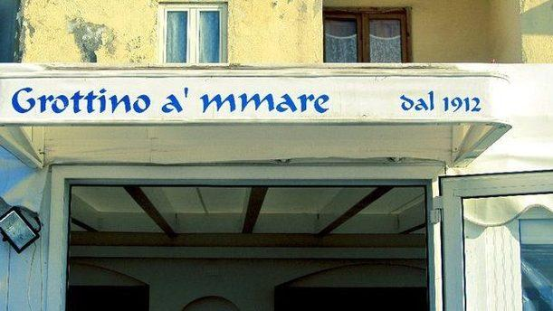 Grottino A'Mmare Insegna in stile marino