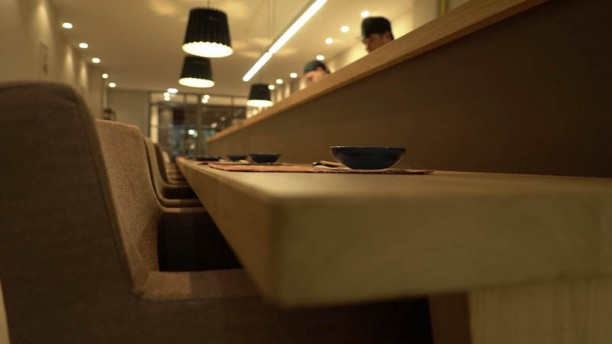 Sushiya Aoyama Vista de la sala