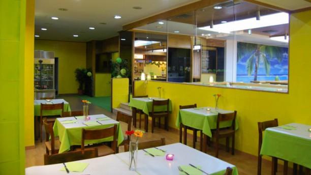 Oásis Vegetariano sala do restaurante