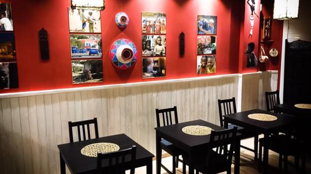Etiopico Afrika Sala del restaurante