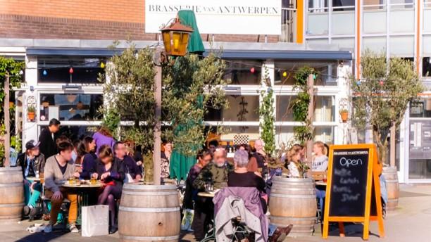 Brasserie van Antwerpen Het terras