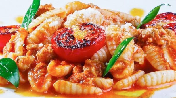 Cesare Primo con pomodori e basilico