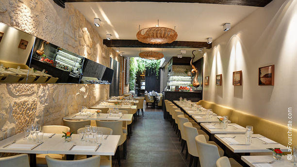 Restaurant suan thai paris 75004 ch telet les halles beaubourg le marais saint paul for Couleur restaurant tendance