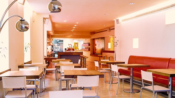 Botánico café Vista sala: entrada.