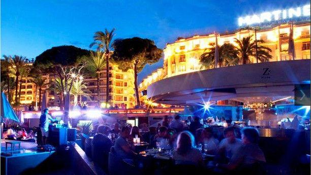 Restaurant z plage cannes 06400 avis menu et prix for Prix chambre martinez cannes