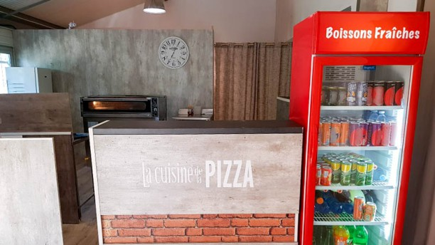 La cuisine de la pizza Vue de l'intérieur
