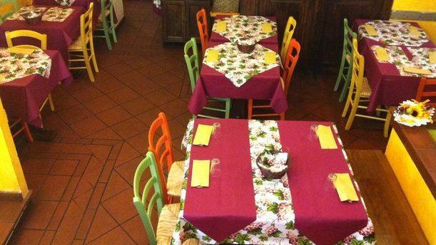 Hosteria San Rocco sala interna colorata