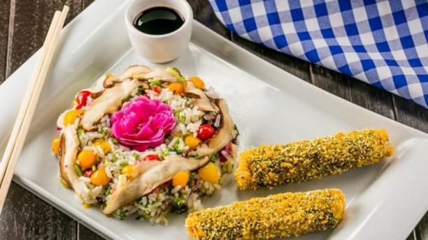 Alquimia dos Temperos Peixinho de Tofu com risoto de Shitak