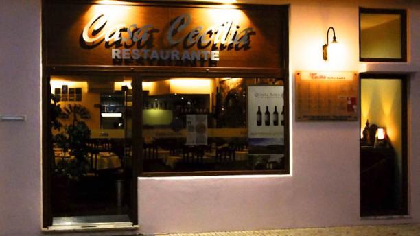 Casa Cecília fachada do restaurante