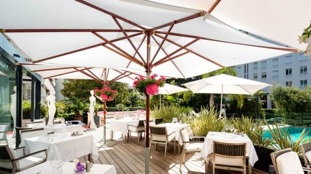 Le Café Blanc - Hôtel Le Canberra Déjeuner en terrasse