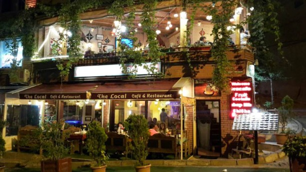 The Local Cafe external view at night