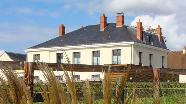 Auberge du Château Bleu Vue de l'extérieur