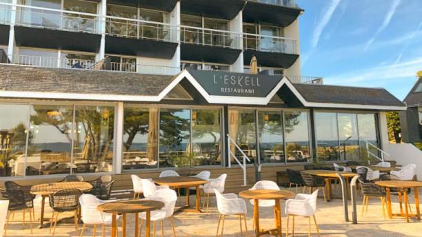 L'Eskell - Le Diana Hôtel & Spa NUXE Vue de la terrasse
