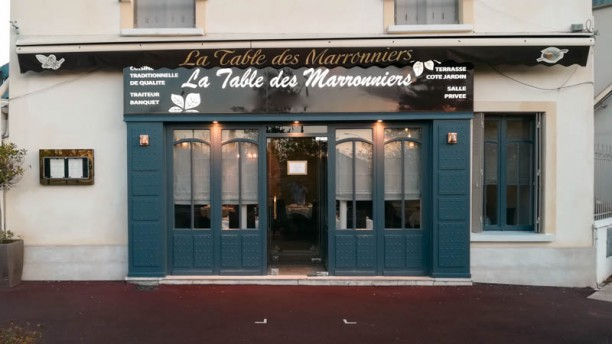 La Table des Marronniers Devanture