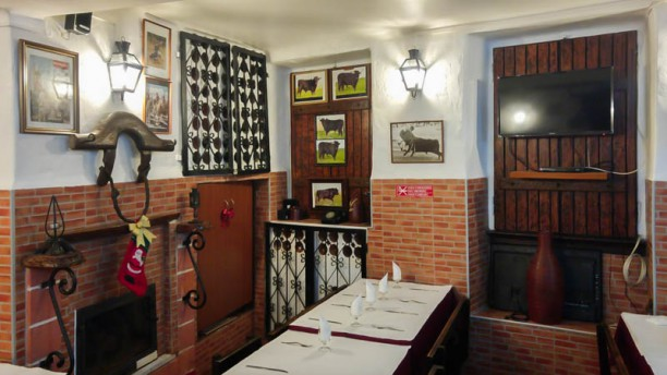 Cabeça de Toiro Vista da sala