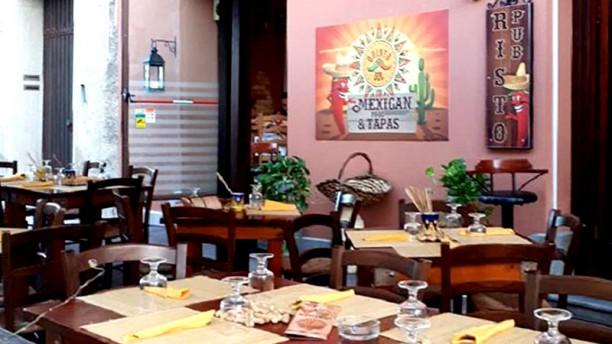 Quinto Sol Mexico Vista della terrazza