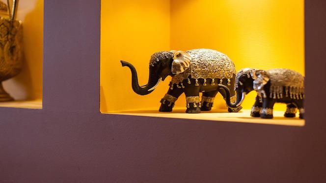 Détail de la décoration - Le Karachi, Lyon