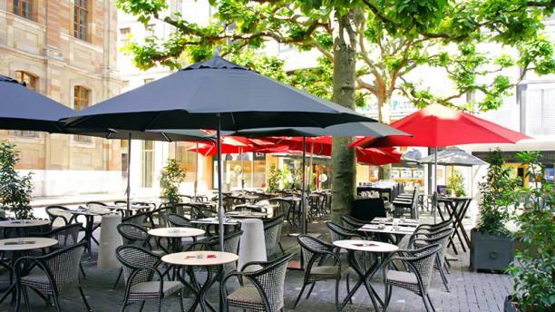 Wine & Beef Fusterie terrasse sur la Place Fusterie