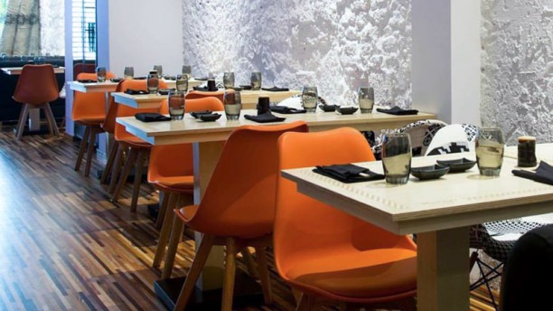 Mangá Sushi House sala do restaurante