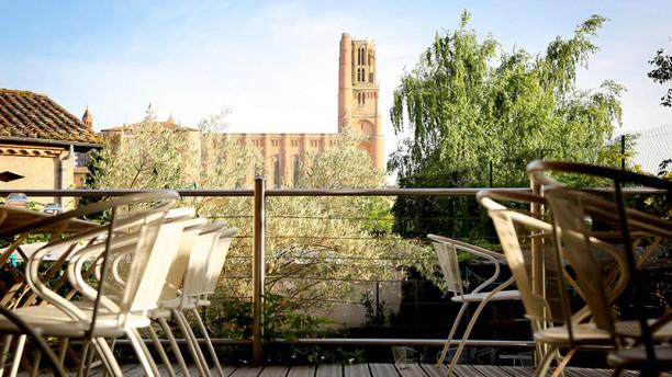 La Planque de l'Évêque Vue de la terrasse