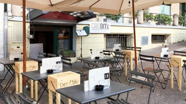 Crudité Gin Bar Restaurant entrata-terrazza