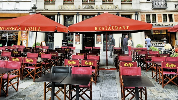 Brussels Grill Grand Place Vue terrasse