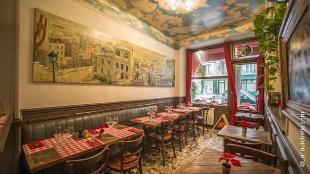 le caf de la butte restaurant 71 rue caulaincourt. Black Bedroom Furniture Sets. Home Design Ideas