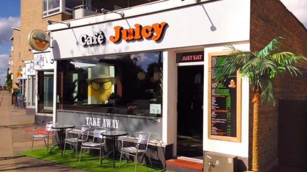 Cafe Juicy Restaurangens front