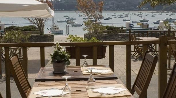 La Brasserie de la Plage La terrasse face au port