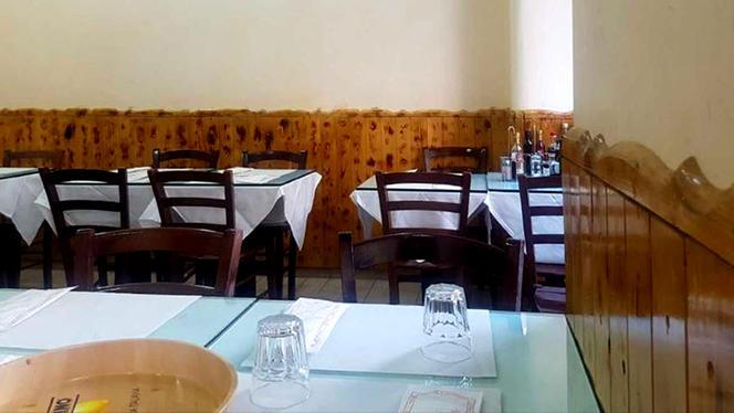 Particolare della sala - ristorante pizzeria del King, Milan