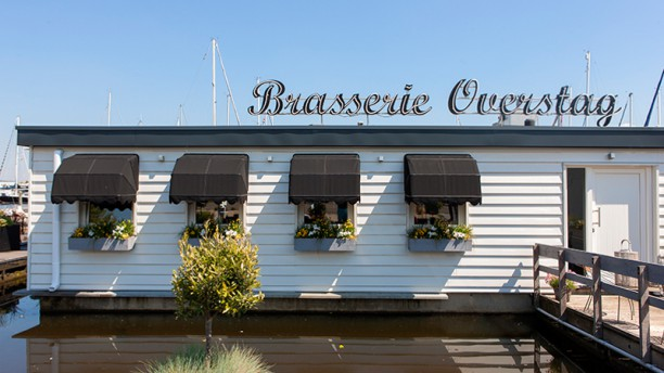 Brasserie Overstag De voorkant van het restaurant