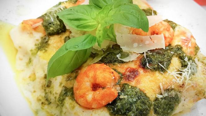 Lasagna al pesto e gamberi - Pulcini Ristorante Italiano, Leça da Palmeira