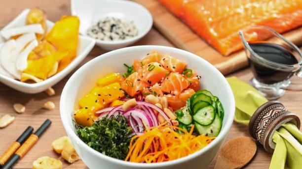 Fish Bowl Pokes, Salads and Rolls Poke bowl