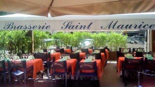 Brasserie Saint Maurice Terrasse de l'Auberge Saint Maurice