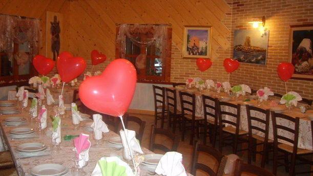 Ristorante Pizzeria Santa Barbara sala interna per compleanni