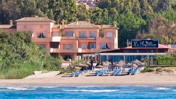 Le Papillon Beach Club La ubicacion del restaurante