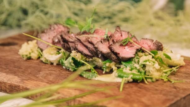 Fabiola Gastronomic Garden Tataki de solomillo Black Angus con ensalada fresca de endivias y cous cous