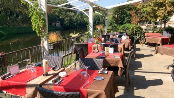 Le Carré des Gourmets terrasse en bordure de l'Aveyron