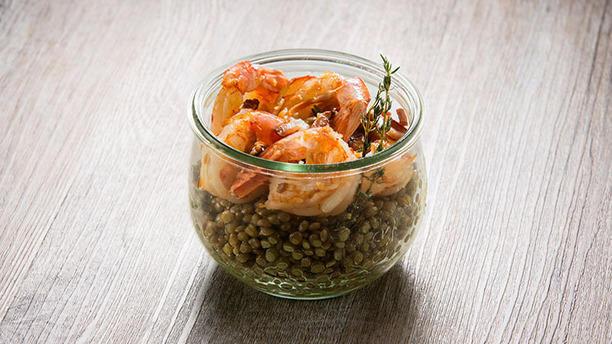 Jarit Gamberi con lenticchie