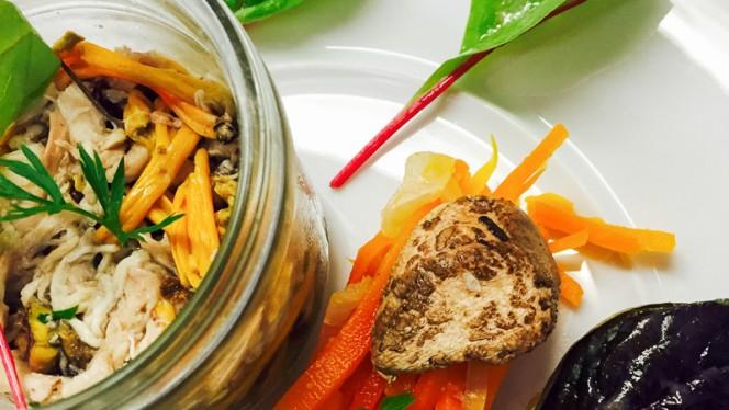 Pressé de lapin aux fruits secs, pickles de champignons, chutney de carottes - Le Baco Saveurs, Nantes